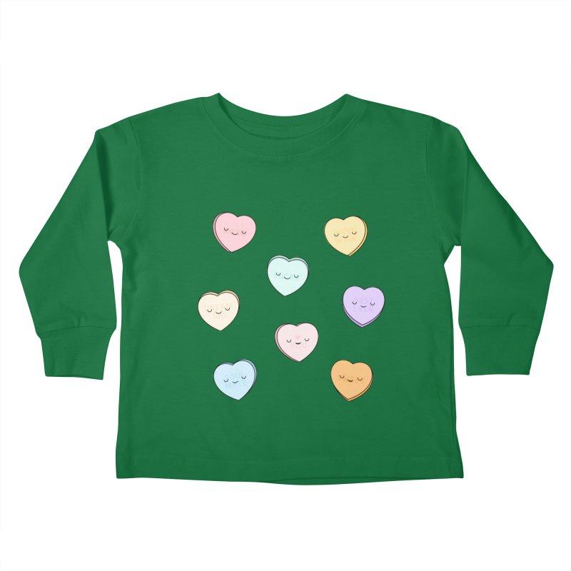 Sweet Candy Hearts Kids Toddler Longsleeve T-Shirt by Kim Vervuurt