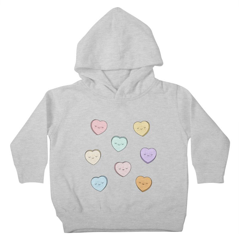 Sweet Candy Hearts Kids Toddler Pullover Hoody by Kim Vervuurt