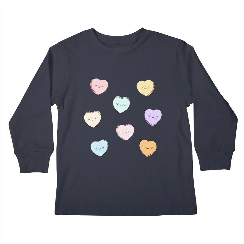 Sweet Candy Hearts Kids Longsleeve T-Shirt by Kim Vervuurt