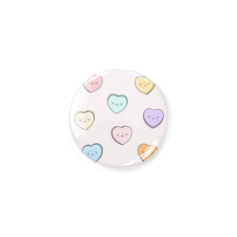 Sweet Candy Hearts Accessories Button by Kim Vervuurt