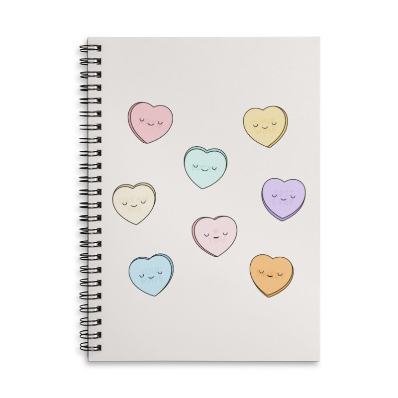 Sweet Candy Hearts Accessories Notebook by Kim Vervuurt