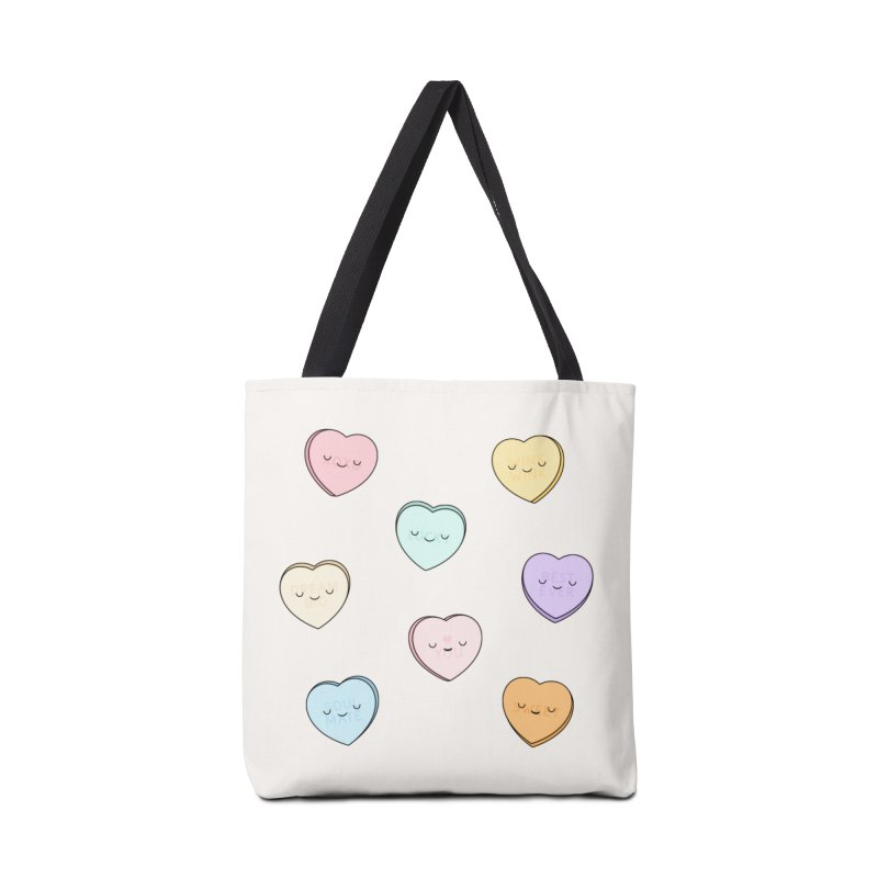 Sweet Candy Hearts Accessories Bag by Kim Vervuurt