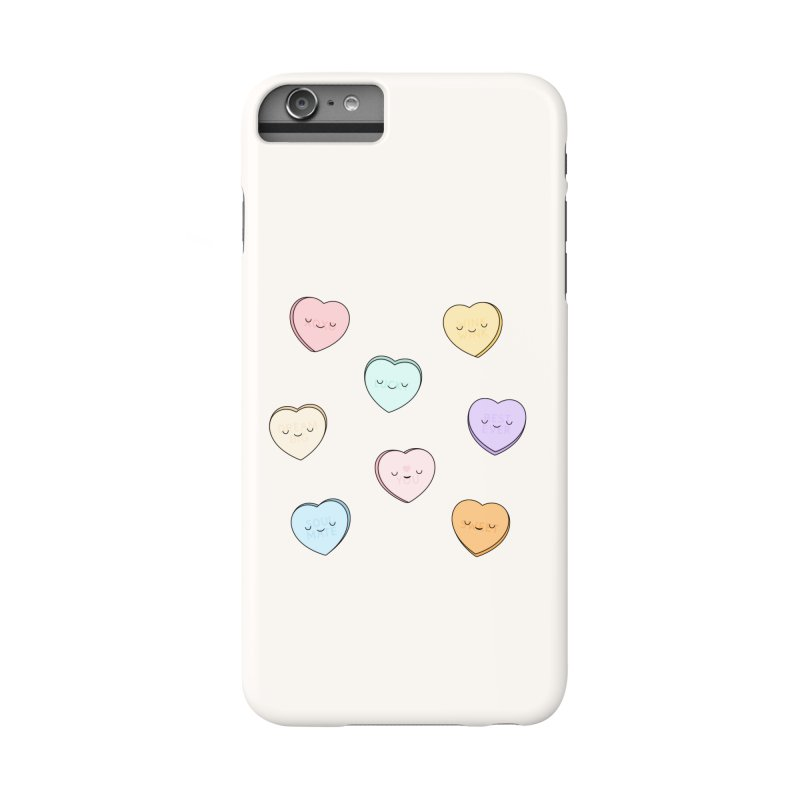 Sweet Candy Hearts Accessories Phone Case by Kim Vervuurt