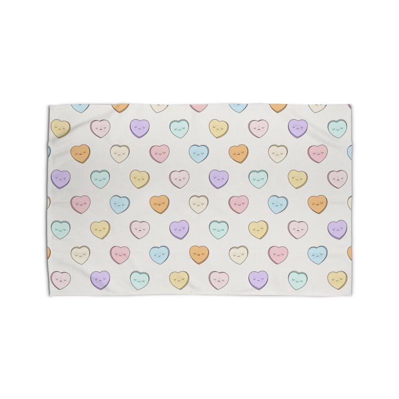 Sweet Candy Hearts Home Rug by Kim Vervuurt