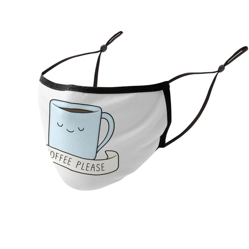 Coffee Please! Accessories Face Mask by Kim Vervuurt