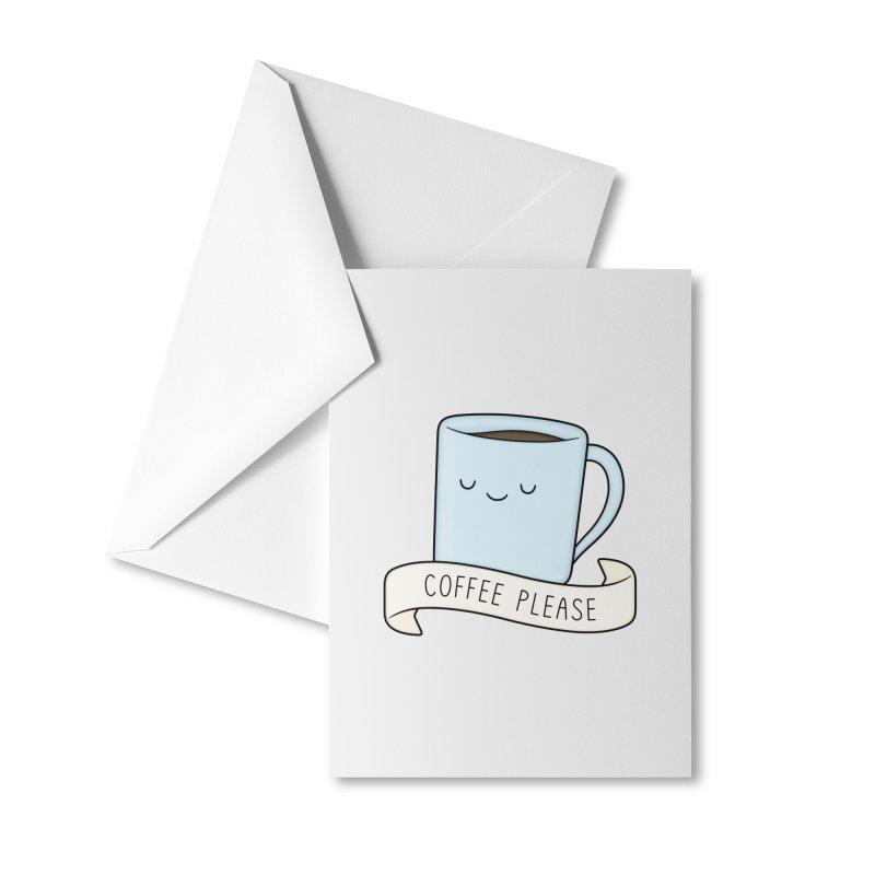 Coffee Please! Accessories Greeting Card by Kim Vervuurt