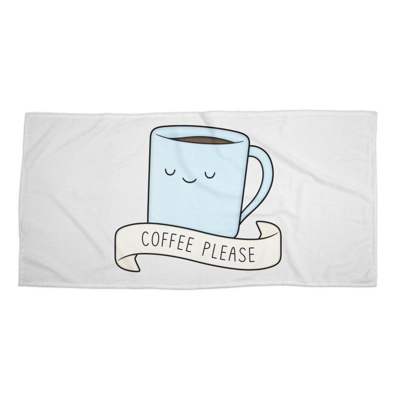 Coffee Please! Accessories Beach Towel by Kim Vervuurt