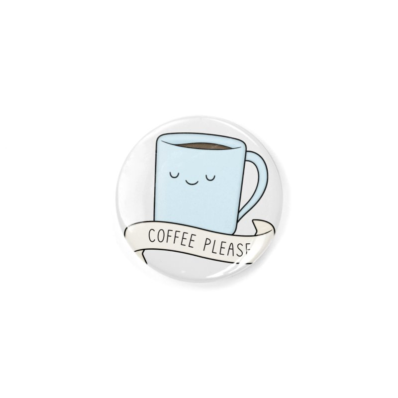 Coffee Please! Accessories Button by Kim Vervuurt
