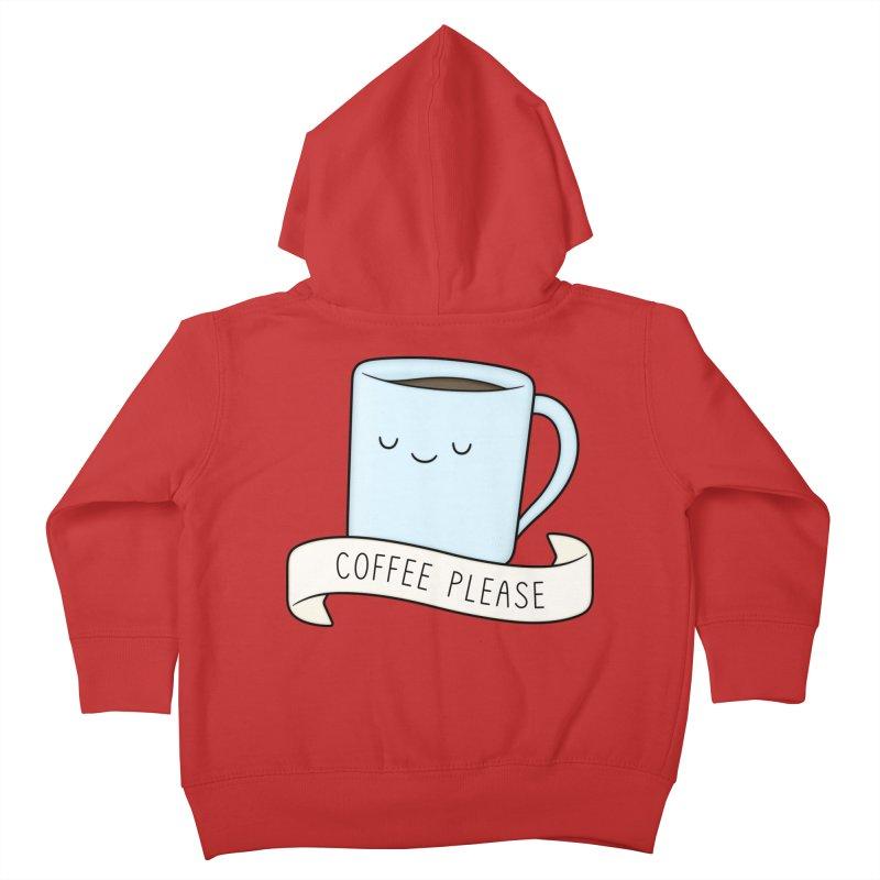 Coffee Please! Kids Toddler Zip-Up Hoody by Kim Vervuurt