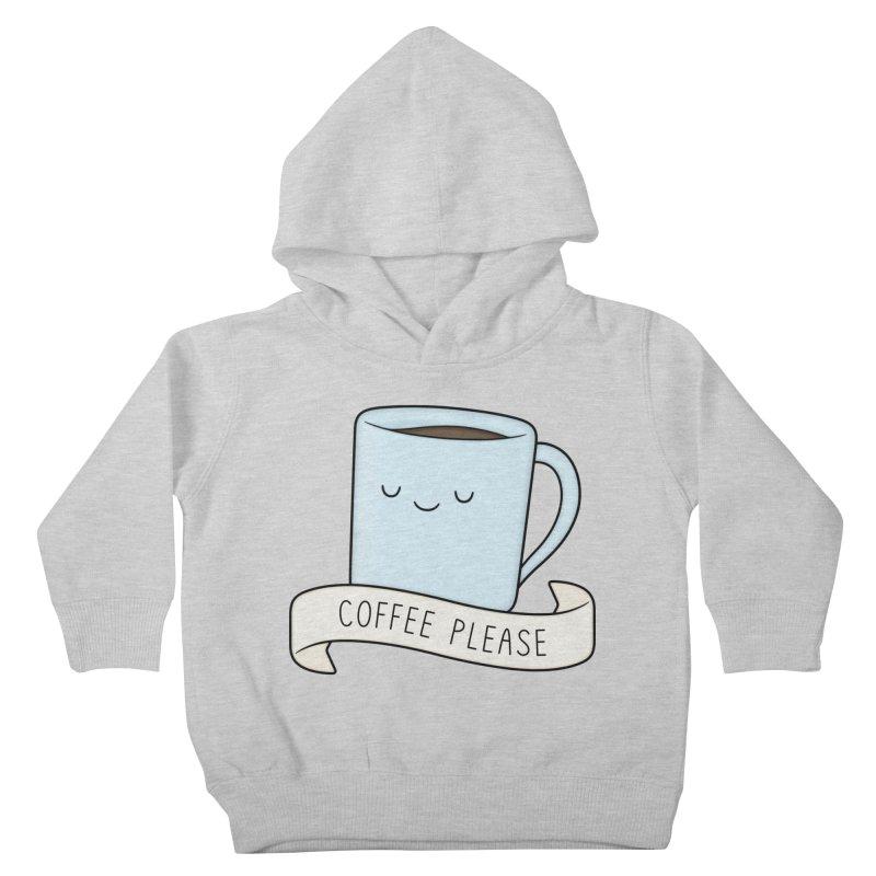 Coffee Please! Kids Toddler Pullover Hoody by Kim Vervuurt