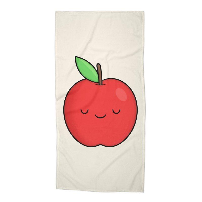 Apple Red Accessories Beach Towel by Kim Vervuurt