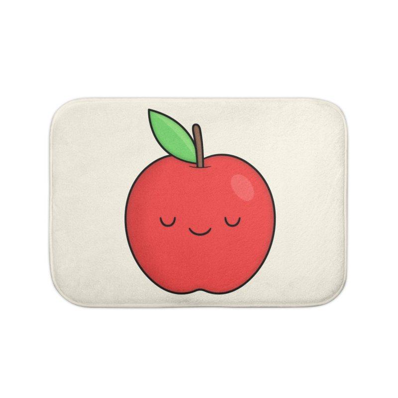 Apple Red Home Bath Mat by Kim Vervuurt