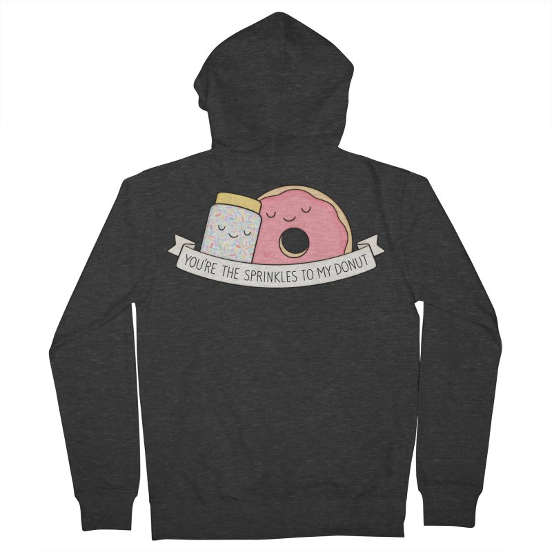 You're the sprinkles to my donut Men's Zip-Up Hoody by Kim Vervuurt