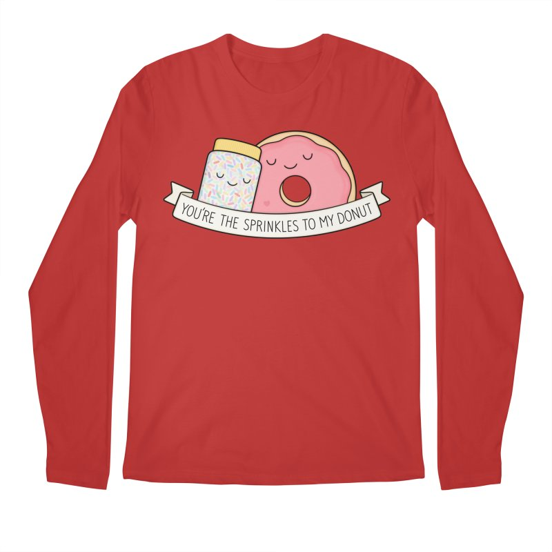 You're the sprinkles to my donut Men's Regular Longsleeve T-Shirt by Kim Vervuurt