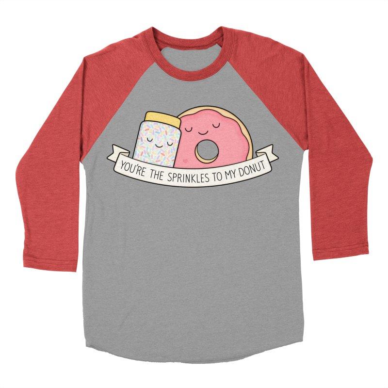You're the sprinkles to my donut Women's Baseball Triblend Longsleeve T-Shirt by Kim Vervuurt