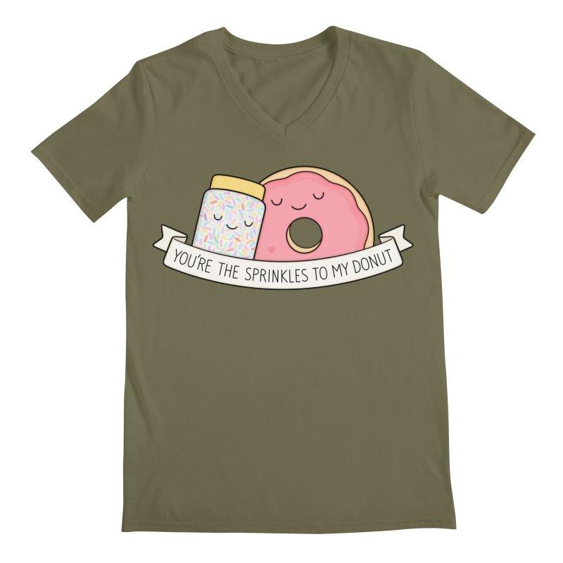You're the sprinkles to my donut Men's Regular V-Neck by Kim Vervuurt