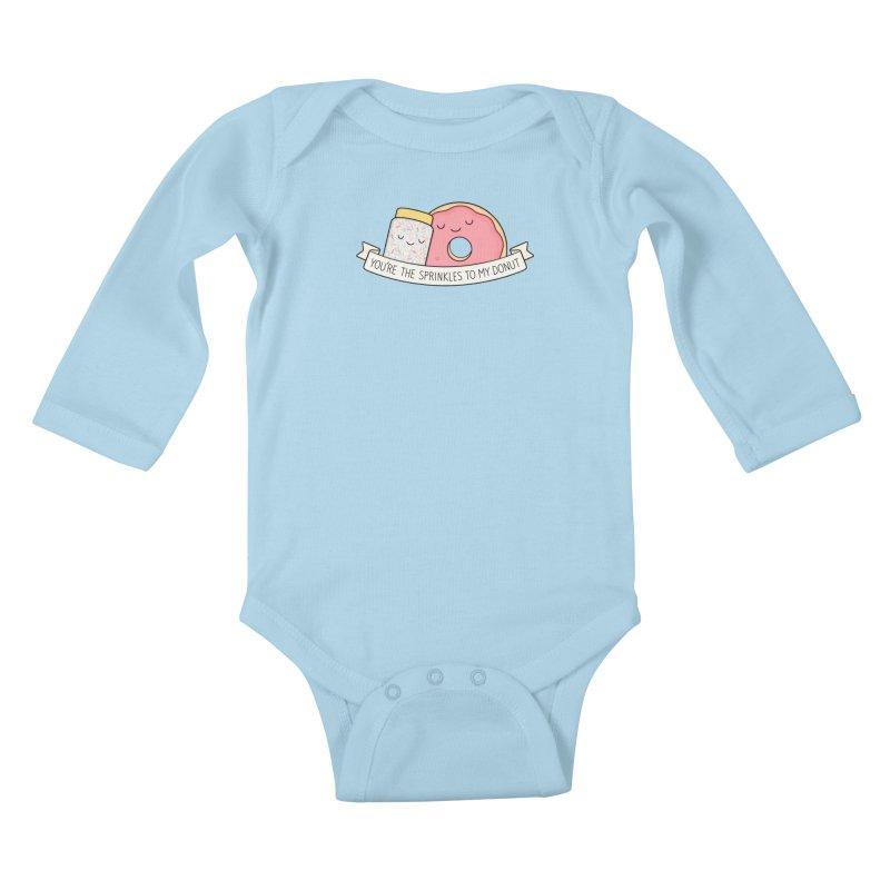 You're the sprinkles to my donut Kids Baby Longsleeve Bodysuit by Kim Vervuurt
