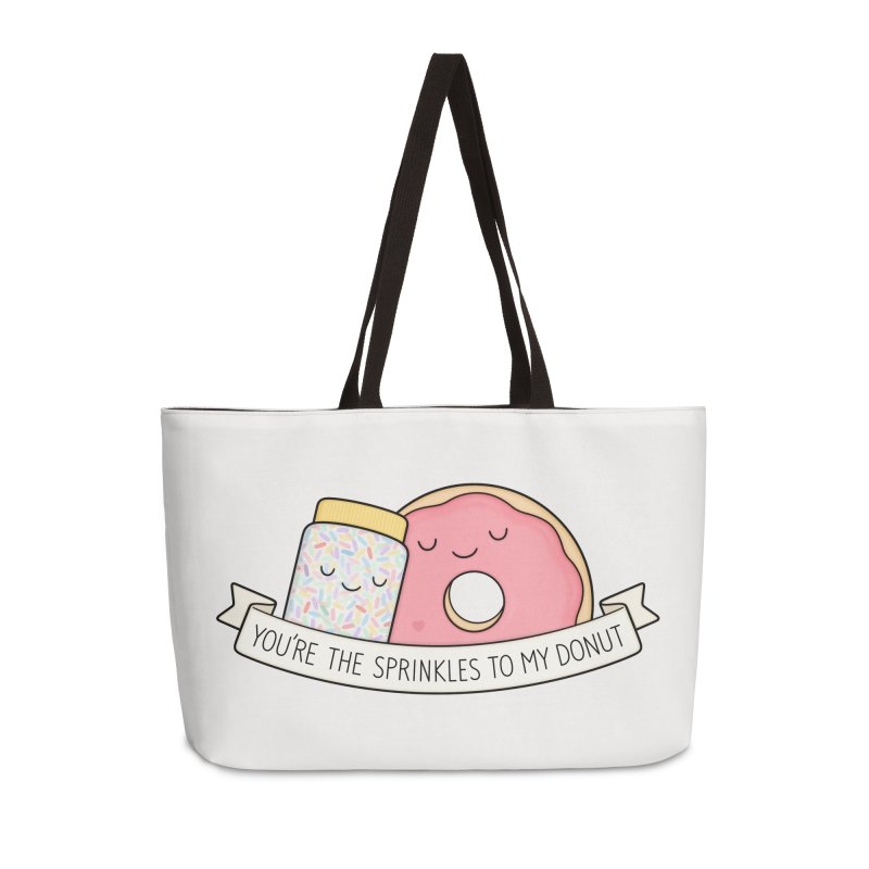You're the sprinkles to my donut Accessories Weekender Bag Bag by Kim Vervuurt
