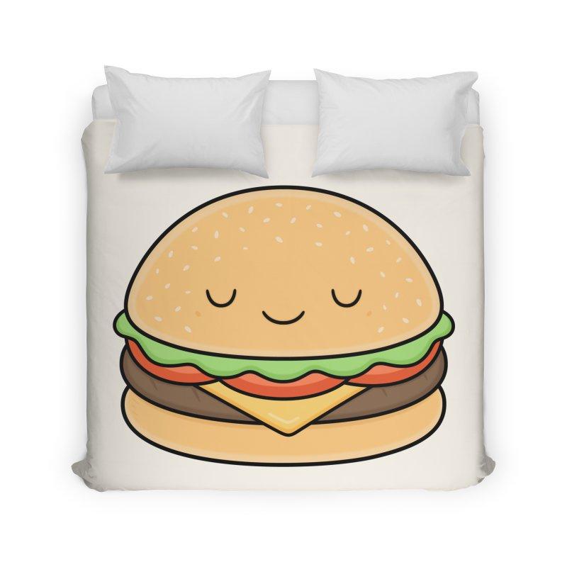 Happy Burger Home Duvet by Kim Vervuurt