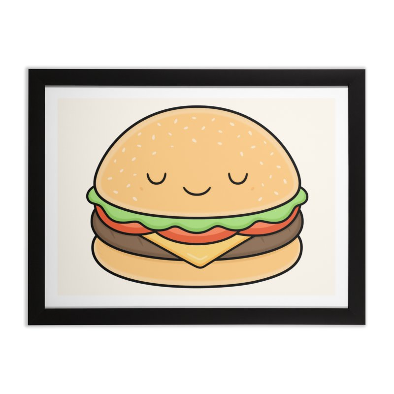 Happy Burger Home Framed Fine Art Print by Kim Vervuurt