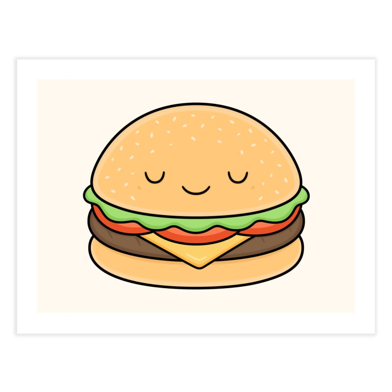 Happy Burger Home Fine Art Print by Kim Vervuurt