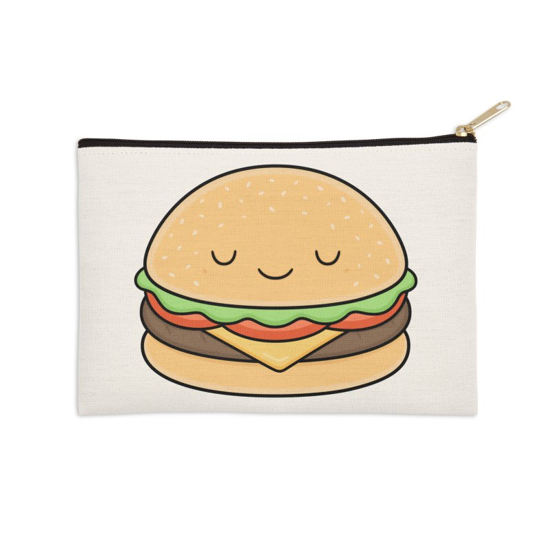 Happy Burger Accessories Zip Pouch by Kim Vervuurt