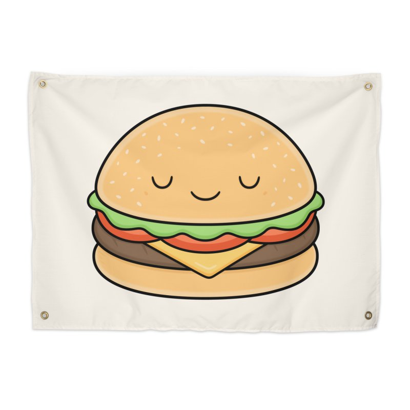 Happy Burger Home Tapestry by Kim Vervuurt