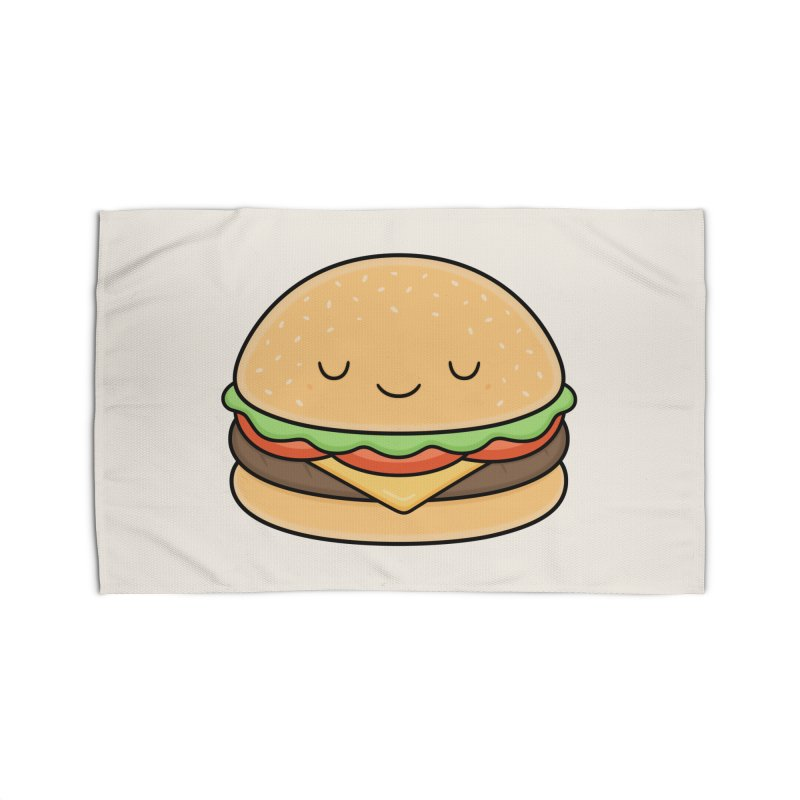 Happy Burger Home Rug by Kim Vervuurt