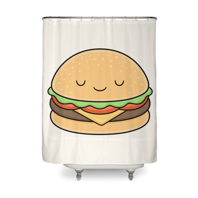 Happy Burger Home Shower Curtain by Kim Vervuurt