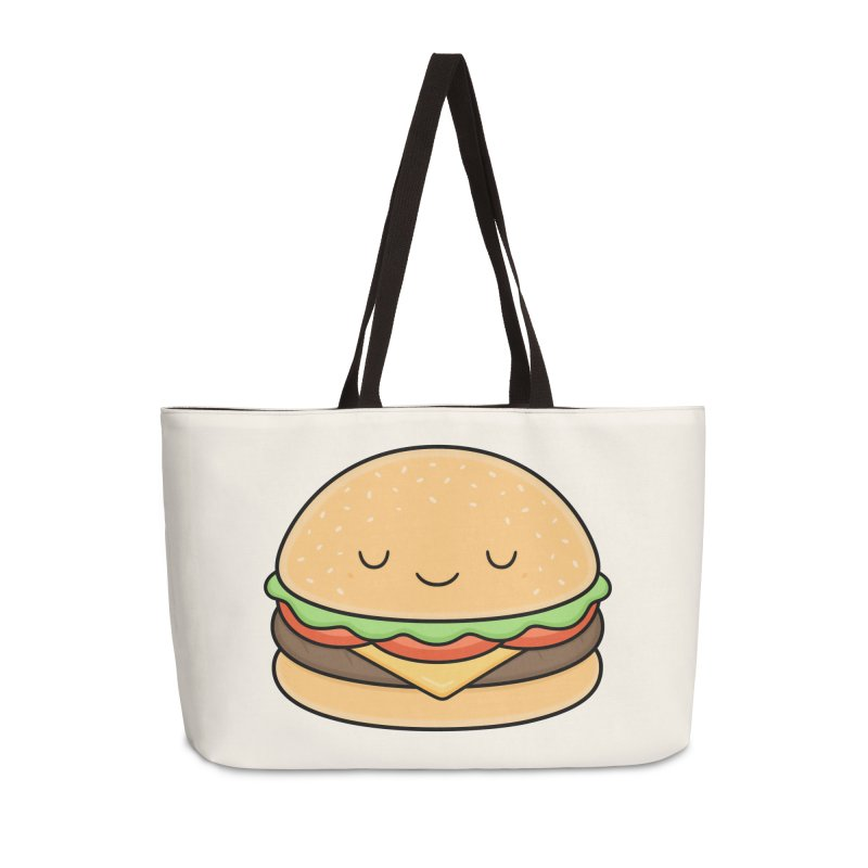 Happy Burger Accessories Weekender Bag Bag by Kim Vervuurt
