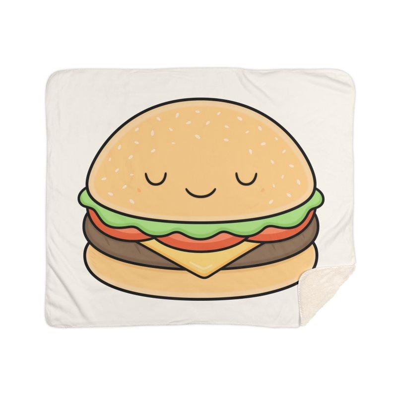 Happy Burger Home Sherpa Blanket Blanket by Kim Vervuurt