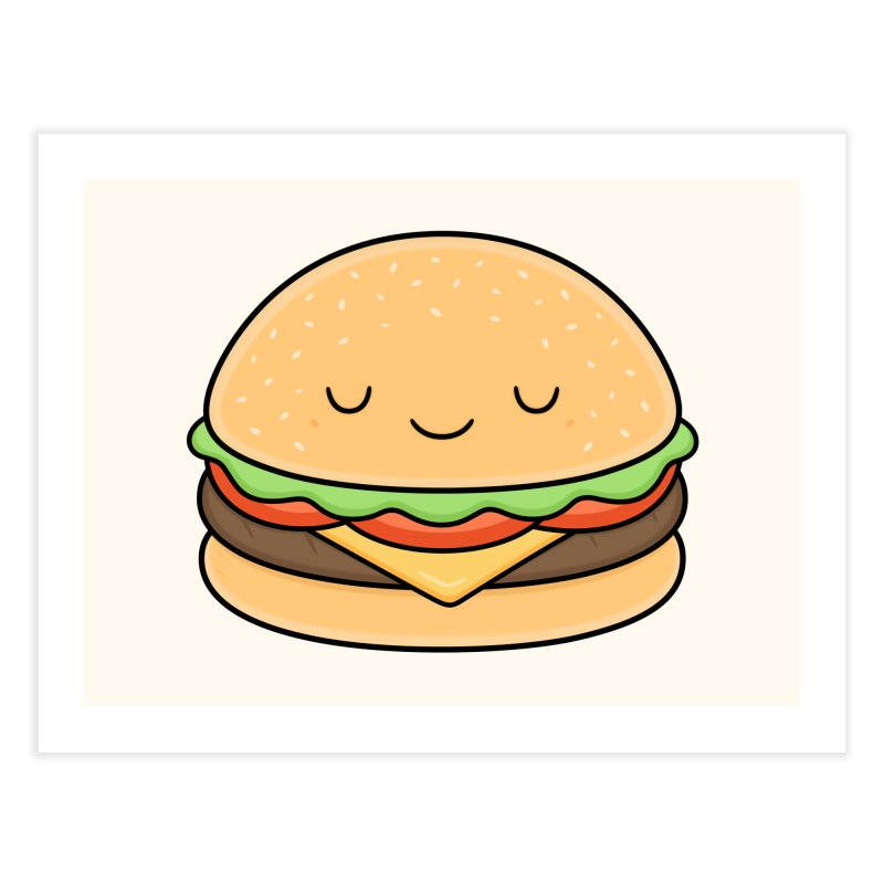Happy Burger Home Fine Art Print by Kim Vervuurt