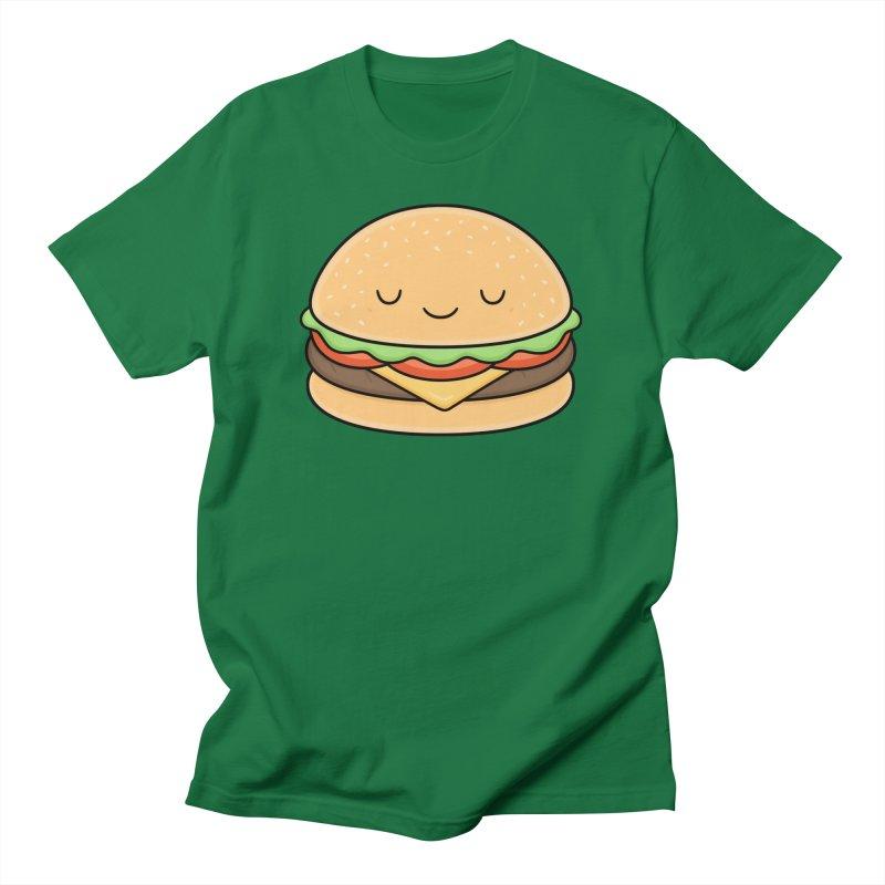 Happy Burger Men's T-Shirt by Kim Vervuurt