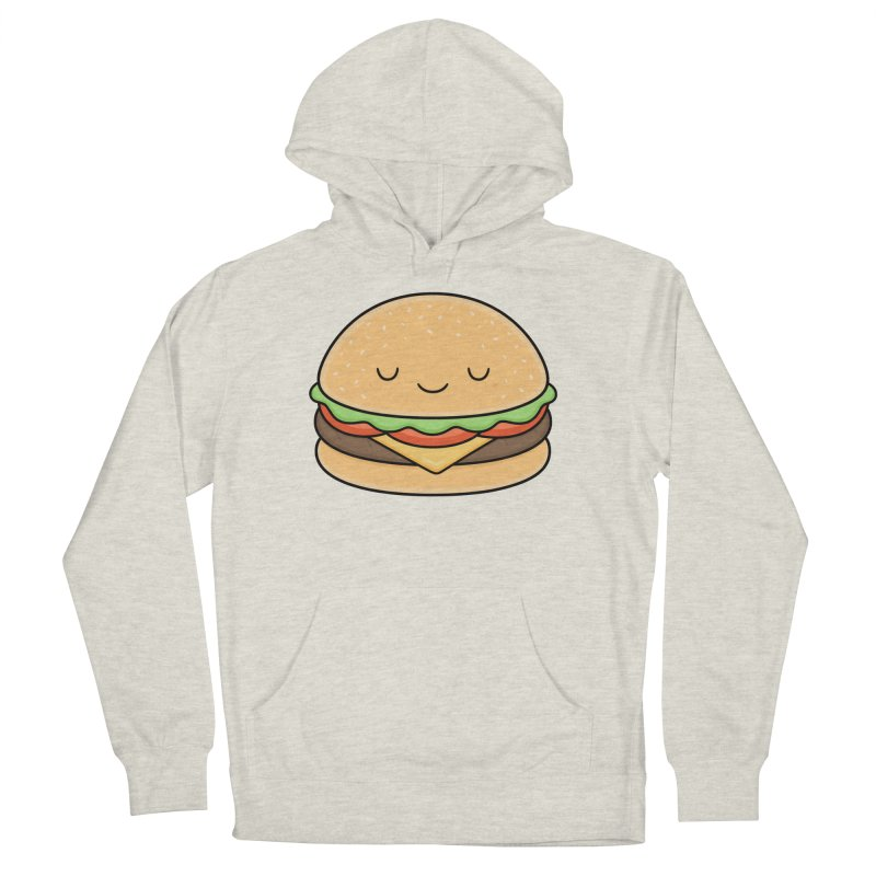 Happy Burger Women's French Terry Pullover Hoody by Kim Vervuurt
