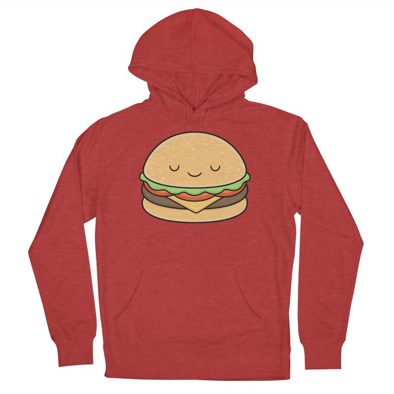 Happy Burger Men's French Terry Pullover Hoody by Kim Vervuurt