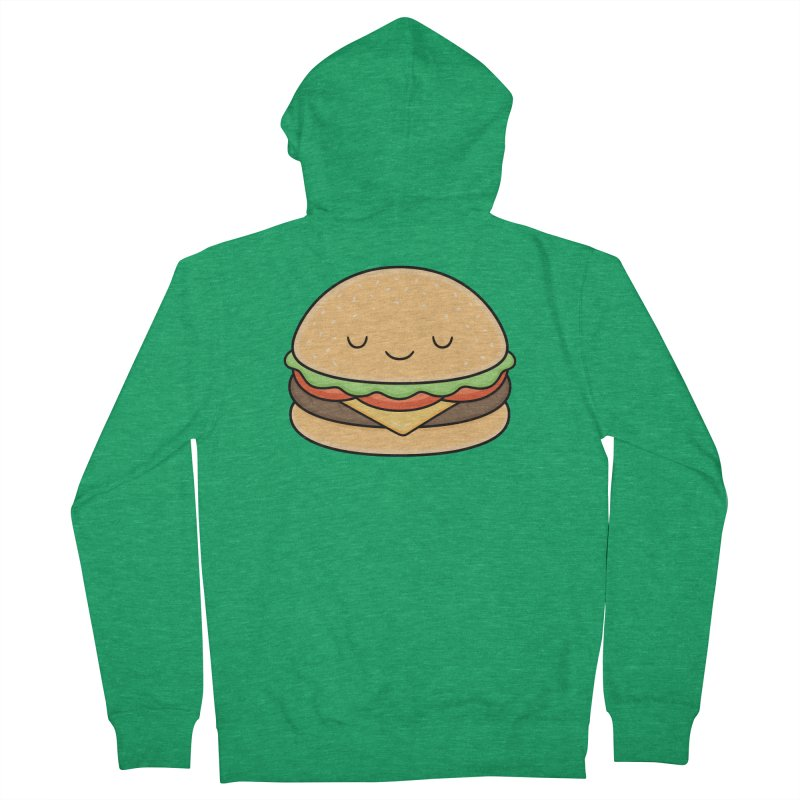 Happy Burger Women's Zip-Up Hoody by Kim Vervuurt