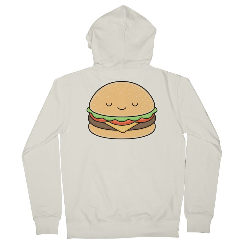 Happy Burger Women's French Terry Zip-Up Hoody by Kim Vervuurt