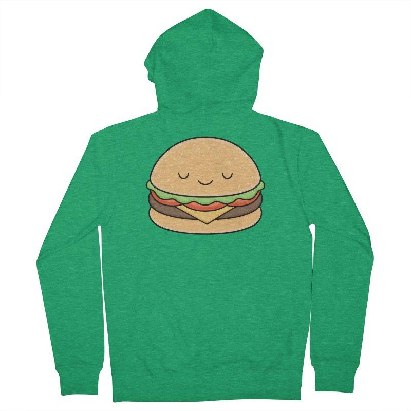 Happy Burger Men's Zip-Up Hoody by Kim Vervuurt