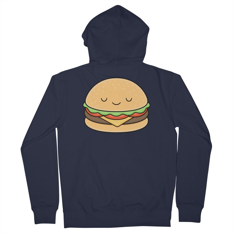 Happy Burger Men's Zip-Up Hoody by Kim Vervuurt