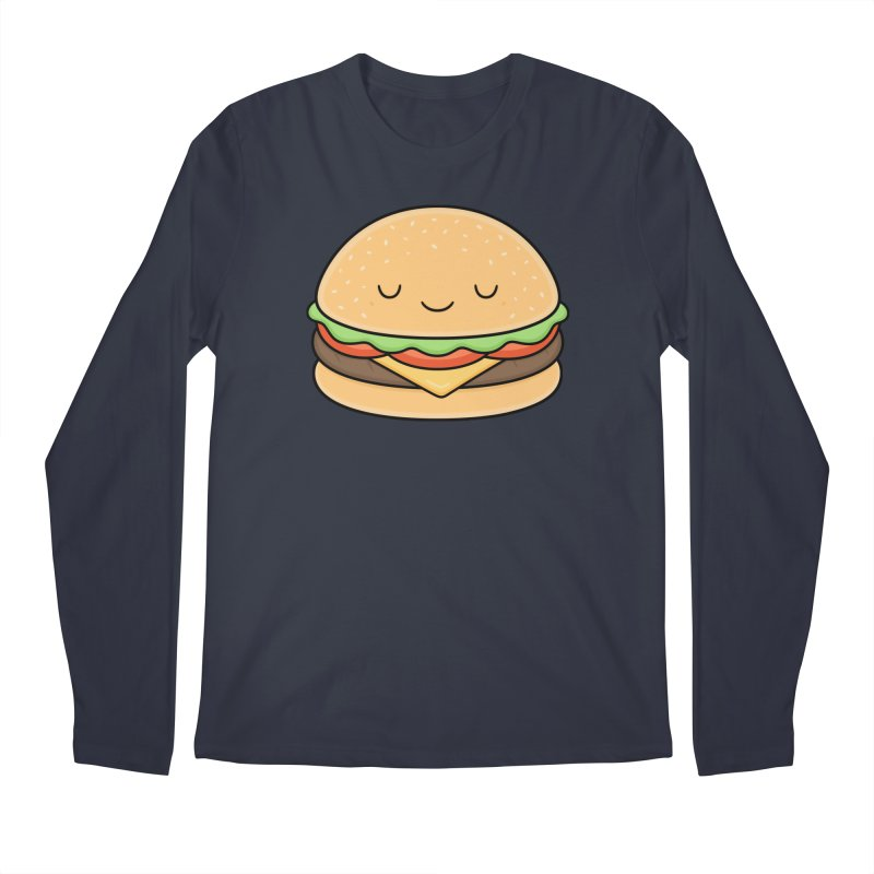 Happy Burger Men's Longsleeve T-Shirt by Kim Vervuurt