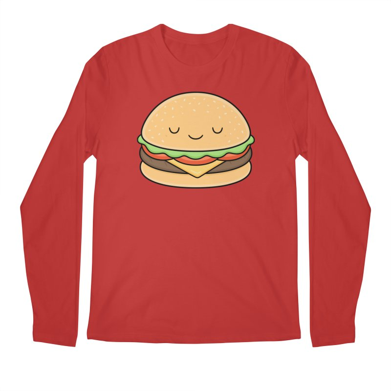 Happy Burger Men's Regular Longsleeve T-Shirt by Kim Vervuurt