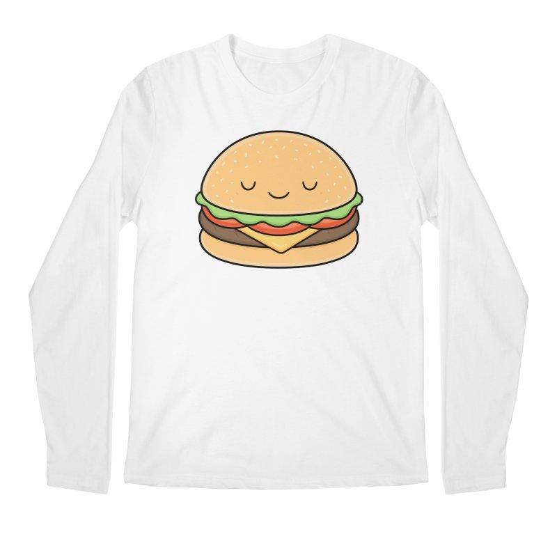 Happy Burger Men's Longsleeve T-Shirt by Kim Vervuurt