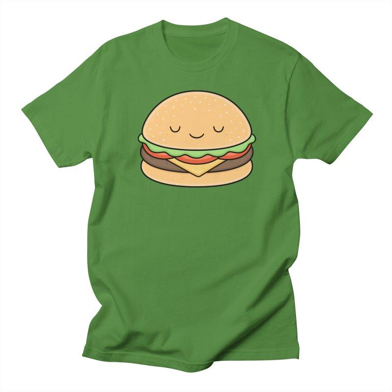 Happy Burger Women's Unisex T-Shirt by Kim Vervuurt