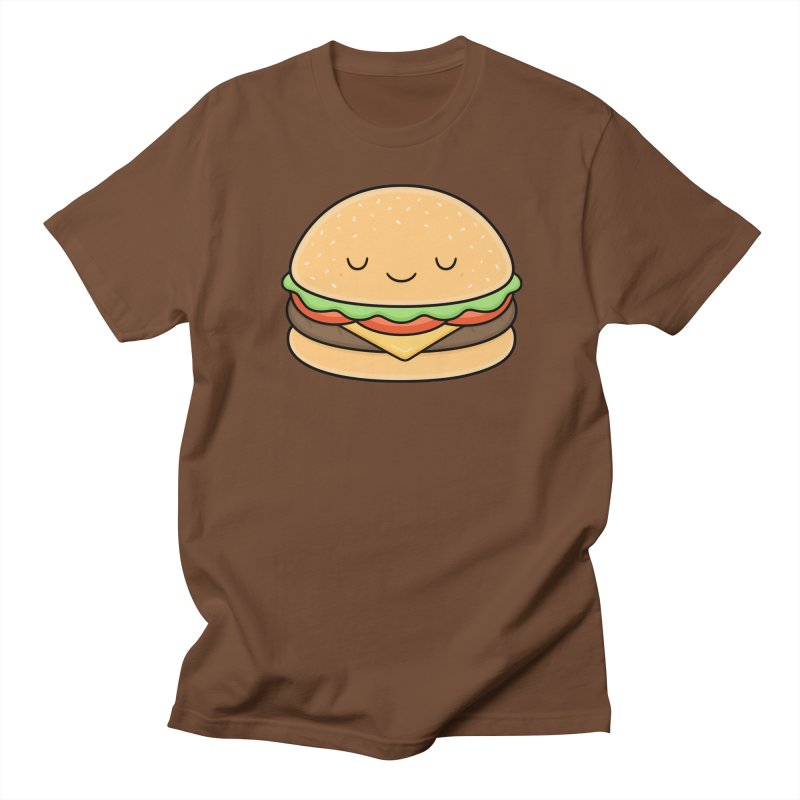 Happy Burger Men's Regular T-Shirt by Kim Vervuurt