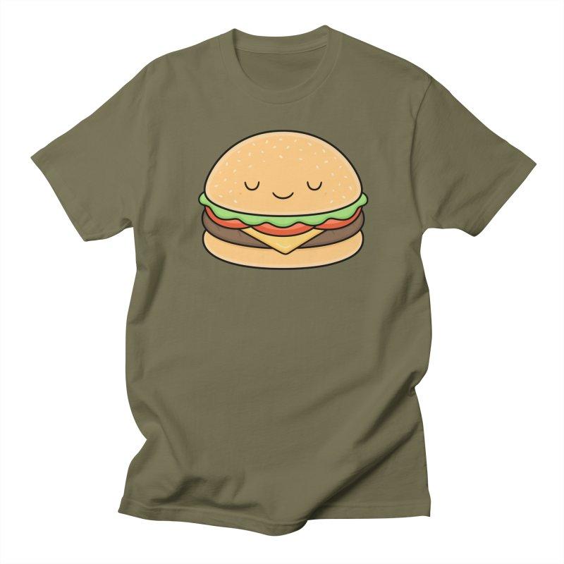 Happy Burger Men's Regular T-Shirt by Kim Vervuurt