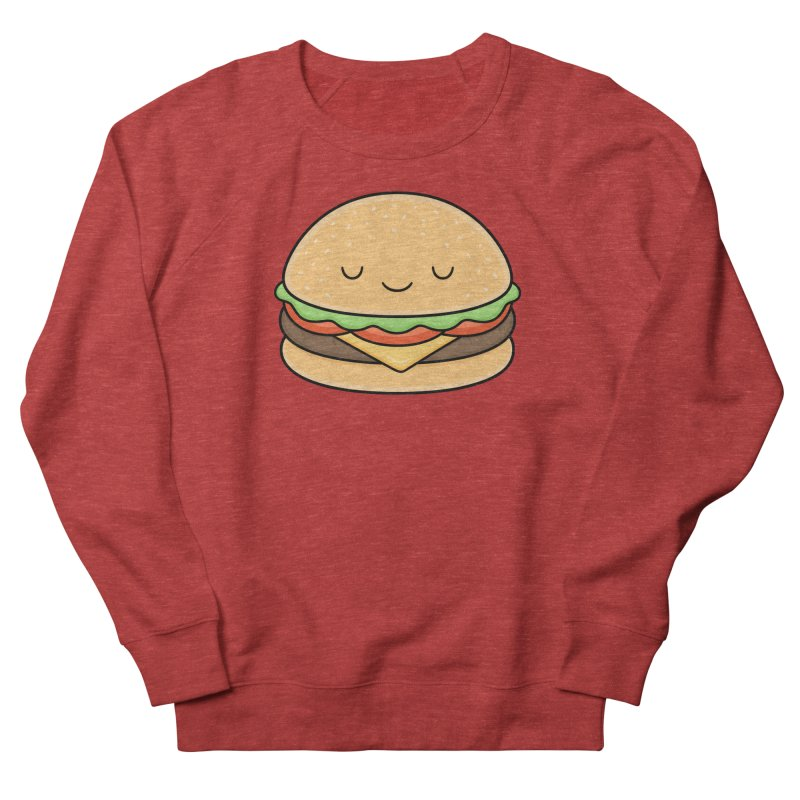 Happy Burger Women's French Terry Sweatshirt by Kim Vervuurt