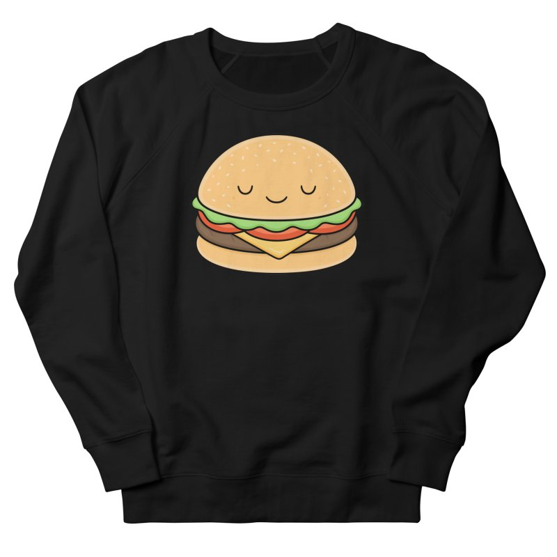 Happy Burger Women's French Terry Sweatshirt by Kim Vervuurt