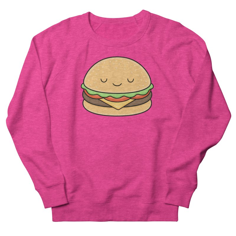 Happy Burger Men's French Terry Sweatshirt by Kim Vervuurt