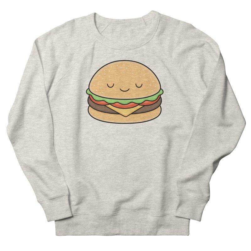 Happy Burger Men's French Terry Sweatshirt by Kim Vervuurt