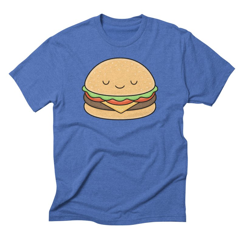 Happy Burger Men's Triblend T-Shirt by Kim Vervuurt